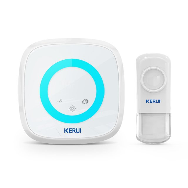 Kerui M516 Wireless Doorbell with F54 Push Button, Operating at over 500 Feet with 52 Chimes, 5 Volume Levels, 4 Working Modes, LED Indicator, 1 Plugin Receiver & 1 Push Button