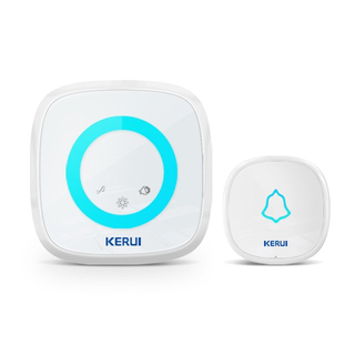 Kerui M516 Wireless Doorbell with F52 Push Button, Operating at over 500 Feet with 52 Chimes, 5 Volume Levels, 4 Working Modes, LED Indicator, 1 Plugin Receiver & 1 Push Button