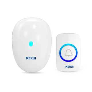 Kerui M521 Wireless Doorbell with F51 Push Button, Operating at over 500 Feet with 57 Chimes, 4 Volume Levels, LED Indicator, Memory Function, 1 Plugin Receiver & 1 Push Button Transmitter