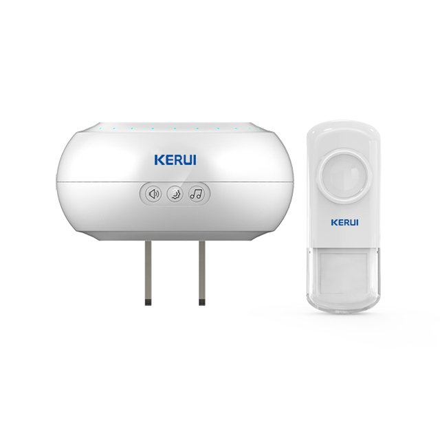 Kerui M523 Wireless Doorbell with F54 Push Button, Operating at over 500 Feet with 32 Chimes, 4 Volume Levels, LED Indicator, 1 Plugin Receiver & 1 Push Button