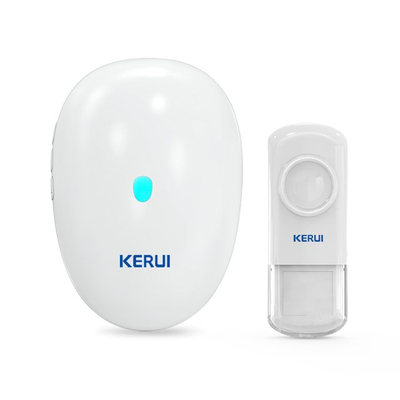 Kerui M521 Wireless Doorbell with F54 Push Button, Operating at over 500 Feet with 57 Chimes, 4 Volume Levels, LED Indicator, Memory Function, 1 Plugin Receiver & 1 Push Button Transmitter