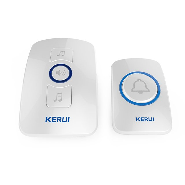 Kerui M525 Wireless Doorbell with F51 Push Button, Operating at over 650 Feet with 32 Chimes, 4 Volume Levels, 3 Working Modes, 1 Plugin Receiver & 1 Push Button