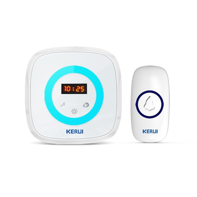 Kerui M526 Time Display Doorbell with F55 Push Button, Operating at over 500 Feet with Time Display, 58 Chimes, 4 Volume Levels, 4 Working Modes, 1 Plugin Receiver & 1 Push Button