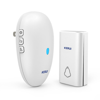 Kerui M621 Wireless Doorbell with F561 Push Button, Operating at over 500 Feet with 57 Chimes, 4 Volume Levels, LED Indicator, Memory Function, 1 Plugin Receiver & 1 Push Button Transmitter